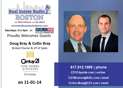 Real Estate Radio Featuring special guests Doug & Collin Bray | WBZ 1030 | 8am-9am | 11/1/14 |