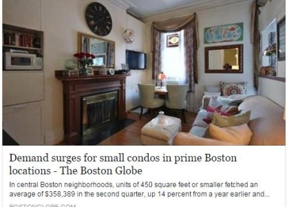 """Tiny condos fetch hefty prices""  Collin Bray Exclusive Featured in the Boston Globe"